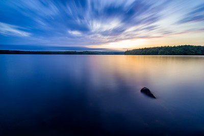 Sunset Long Exposure - Lake Whitehall, Hopkinton, MA - Tom Sloan