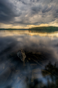 Sumer Sunset Relections - Lake Whitehall - Tom Sloan