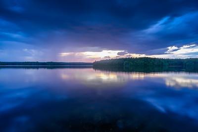 Summer Sunset Blues - Lake Whitehall - Tom Sloan