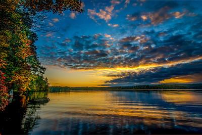 Fall Reflections at Sunset - Lake Whitehall