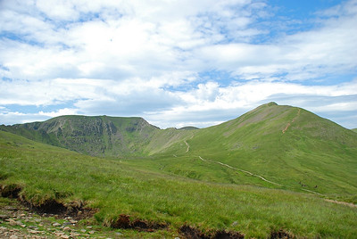 Helvellyn to the left of Catstye Cam.