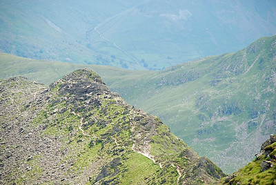 Looking down on Striding edge from near the top of Helvellyn.