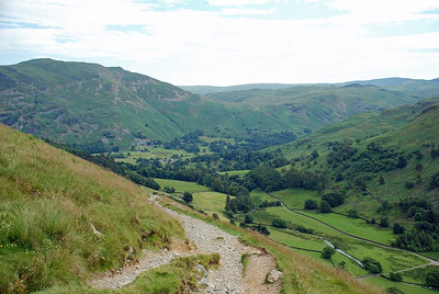 The Grisedale valley back down towards Patterdale.