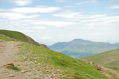 Skiddaw from Helvellyn. Criffel can just be made out in the distance across the Solway.