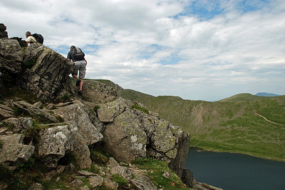 The start of Striding edge