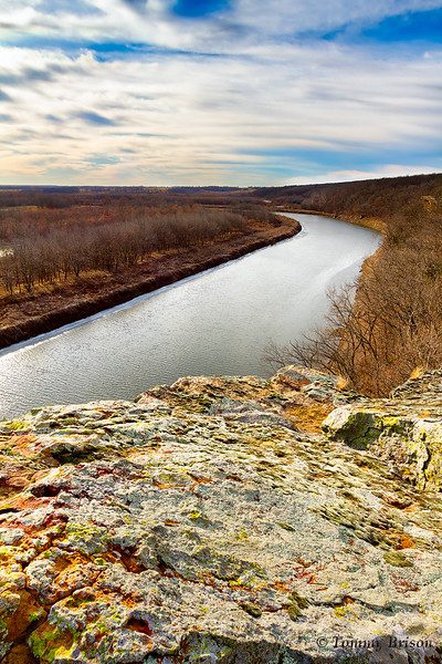 Bluff at Monegaw Springs overlooking the Osage River