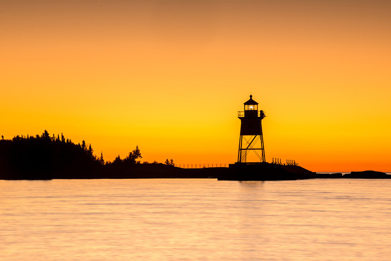 MNLR-12236: Morning twilight at Grand Marais harbor