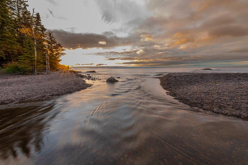 Poplar River into Lake Superior