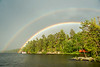 Double Rainbow over Burntside Lake