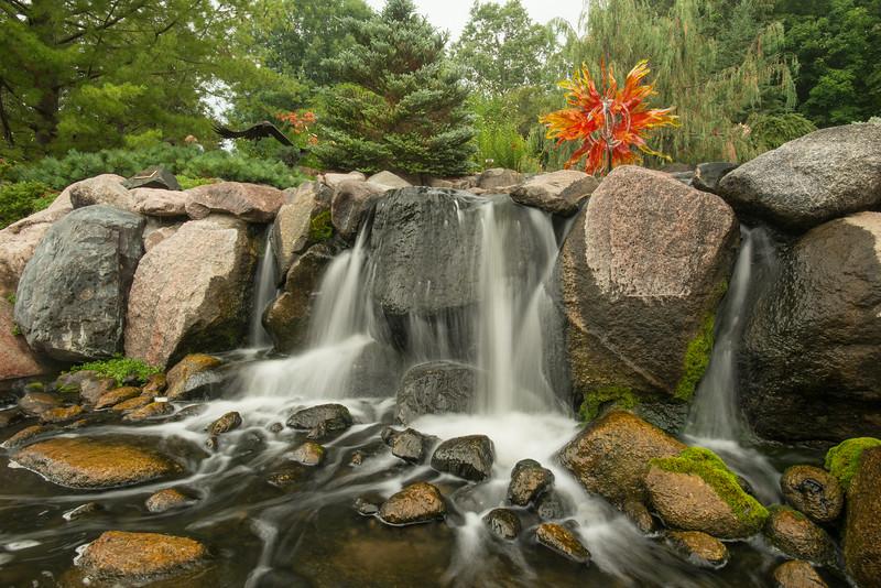 Waterfall at the Minnesota Landscape Arboretum