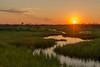 Setting sun at Crex Meadows WMA