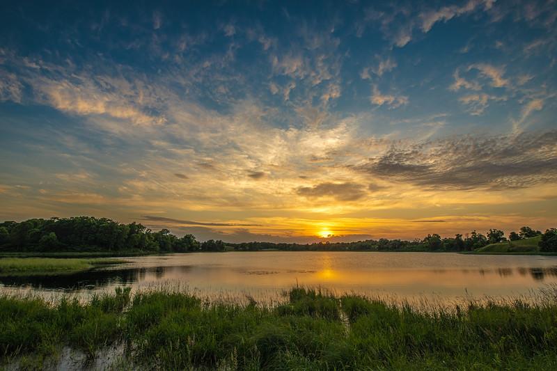 Prairie Lake at sunset