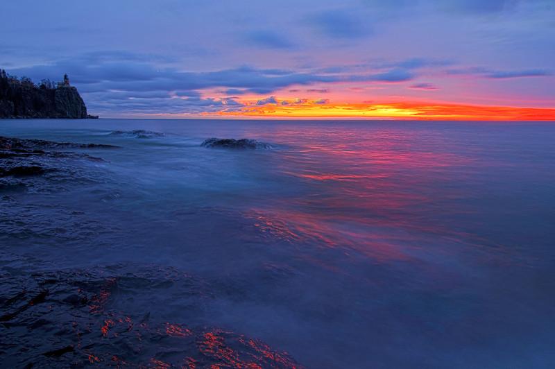 MNLR-11309H: Twilight on Lake Superior