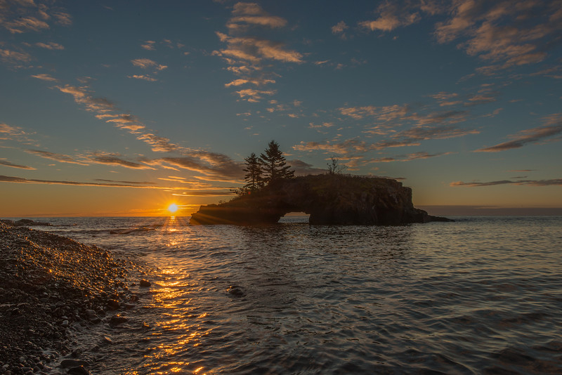 Sunrise at Hollow Rock