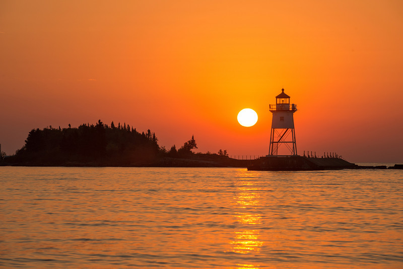 Sunrise at Grand Marais Harbor