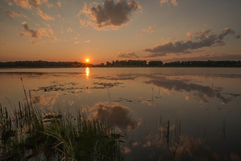 MNLR-13-105: Setting sun over wetland