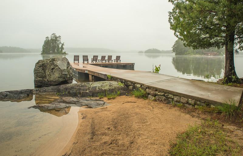 Burnside Lake in morning mist