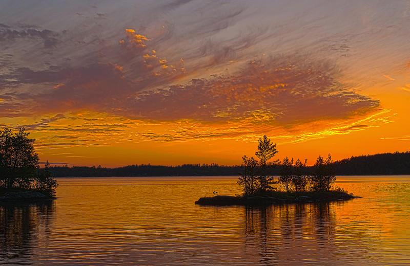 MNLR-11141H: Burntside Lake sunset