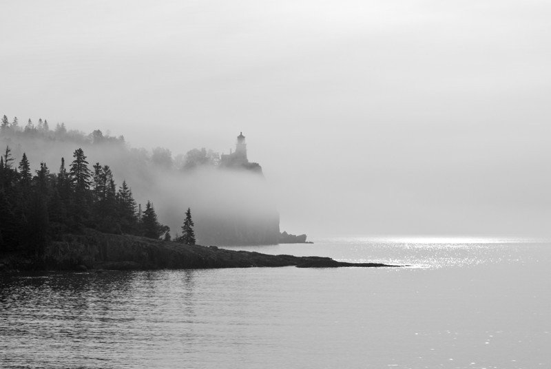 MNLR-12167: Foggy morning at Split Rock Lighthouse State Park