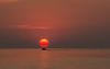 Sunrise fisherman heading out on Lake Superior