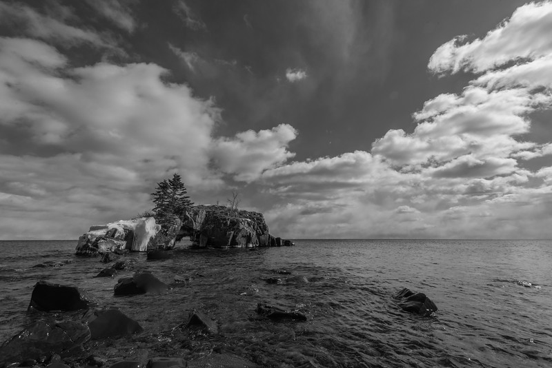 Hollow Rock in B & W