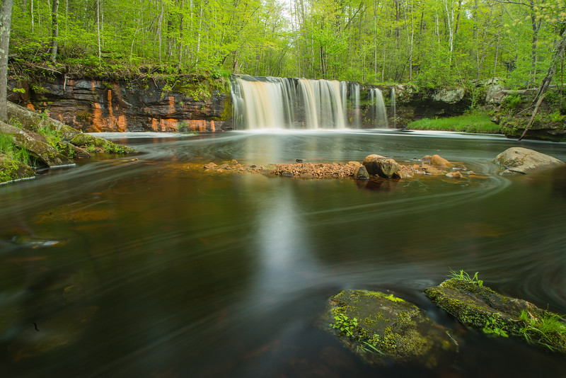 Wolf Creek Falls in spring