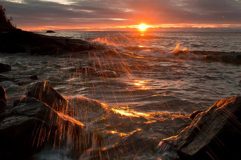 MNLR-10242: Sunrise on Lake Superior