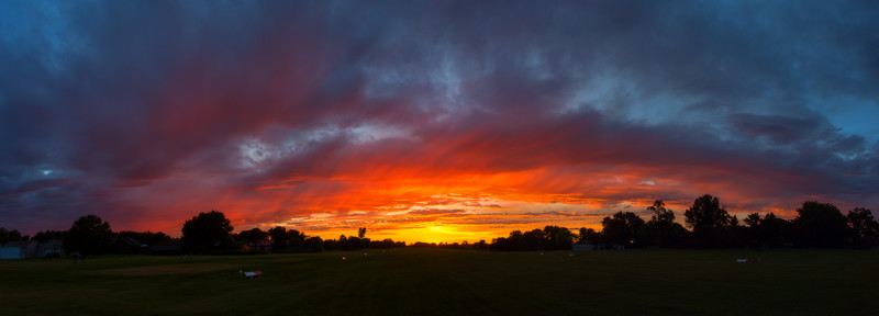 Sunset over Runway, Sky Harbor Air Park, Webster, Minnesota