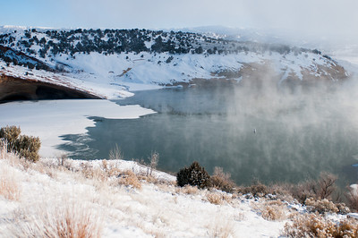 Red Fleet Reservoir in November. Photo by Ron Stewart, Utah Division of Wildlife Resources.