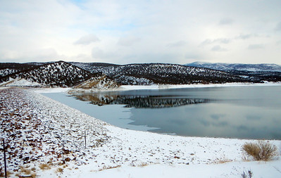 Rockport Reservoir in northern Utah, Dec. 27, 2012. Photo by Dean Mitchell.