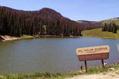 Mill Hollow Reservoir. Photo by Scott Root, June 2013.