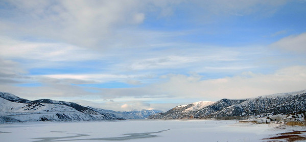 Echo Reservoir, Dec. 27, 2012. Photo by Dean Mitchell.