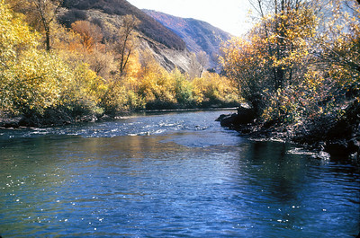 Unidentified Utah River in autumn