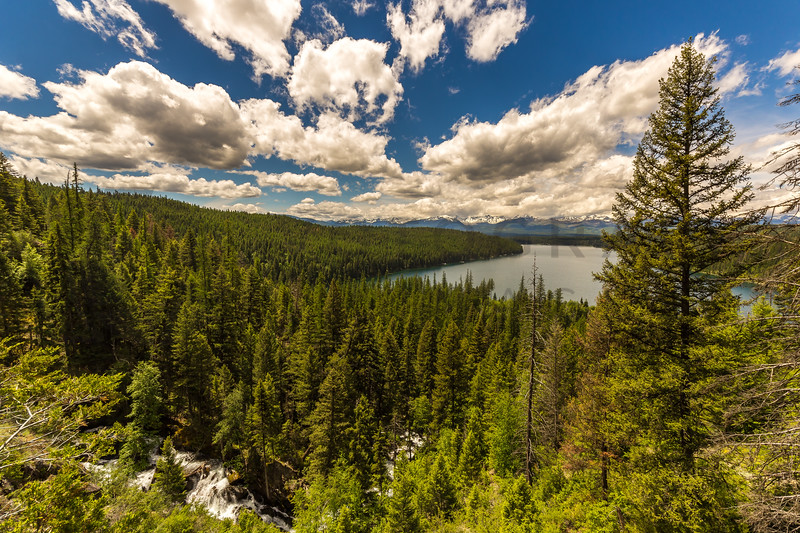 Vista from above Holland Lake, Swan Valley, Montana