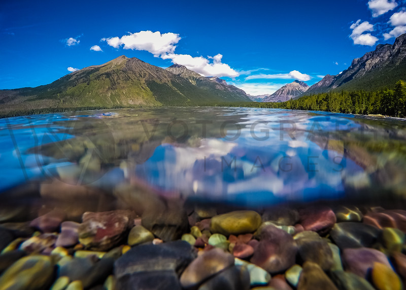 Above and Under Water, McDonald Lake, Glacier National Park, Montana
