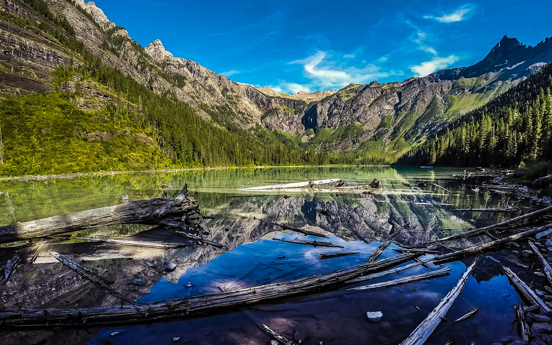 Reflection in Avalanche Lake, Glacier National Park, Montana
