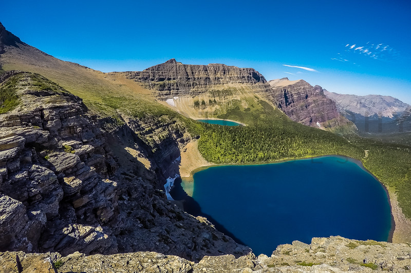 Spectacular Vistas of Mountain Lakes, and Mountains, Glacier National Park, Montana