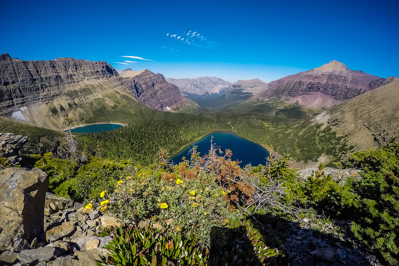 High-Altitude Mountain Lakes, Glacier National Park, Montana