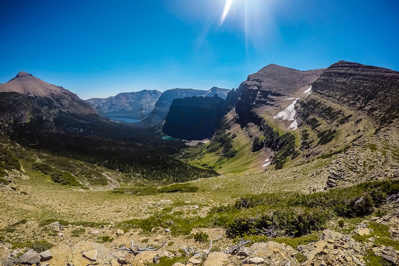Spectacular View Back to Two Medicine Lake, Glacier National Park, Montana