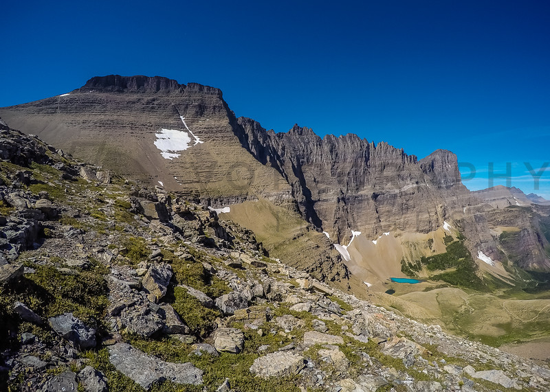 At Piegan Pass, Looking at The Garden Wall, Glacier National Park, Montana