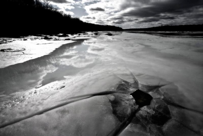 Lake in Throws of Melting