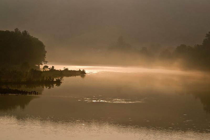 Fog on the Delaware River