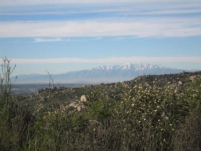 San Gabriel Mountains from Lakeview Mountains, 16 Jan 2005