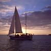 Key West Sunset Sail 1996 - scanned Kodak film