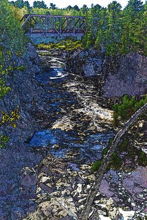 Jay Cooke Trestle Bridge Art