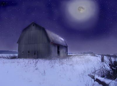 Midnight barn
