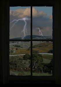 Thunderstorm through a window