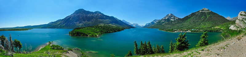 Panorama Waterton Alberta Canada