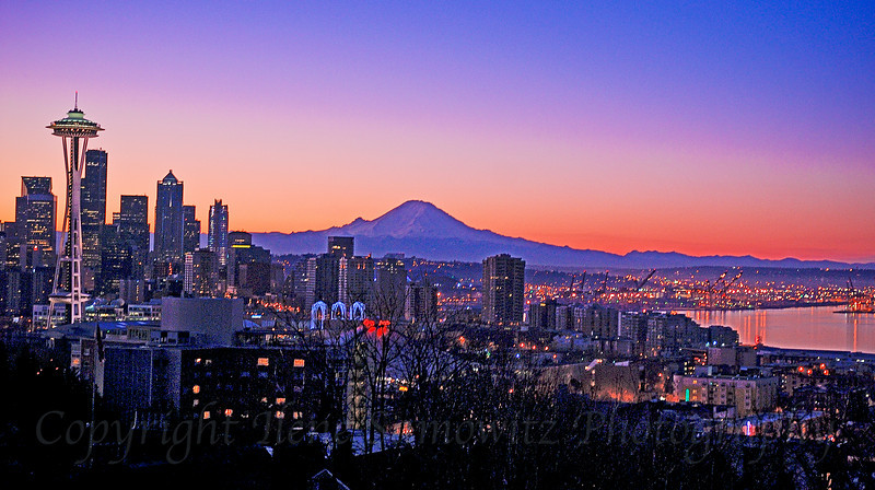 Seattle Winter Sunrise, Washington