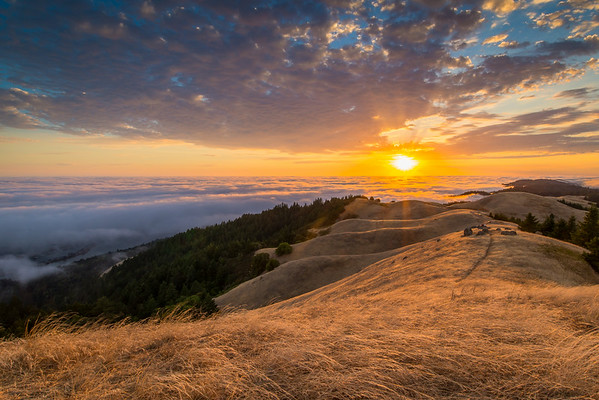 Bolinas Ridge Sunset, Mount Tamalpais